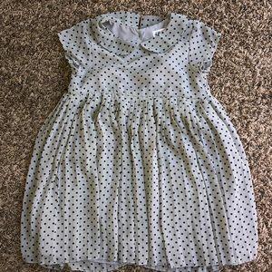 H&M Gray Polkadot Dress 5-6Y